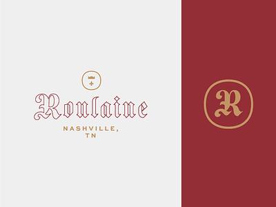 Roulaine Final Mark blackletter nashville music logo branding monogram typogaphy