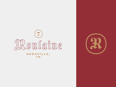 Roulaine Final Mark blackletter nashville music logo branding monogram typogaphy