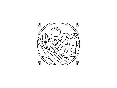HALF DOME logo landscape illustration california nature outdoor camping yosemite half dome
