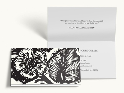 Printed Collateral for a Bed and Breakfast brochure business cards printed collateral marketing