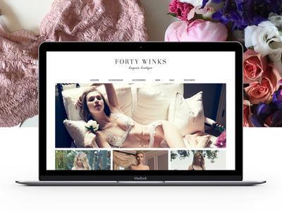 Forty Winks Homepage design responsive design ecommerce web design
