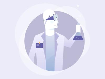 The Scientist scientist design character illustration