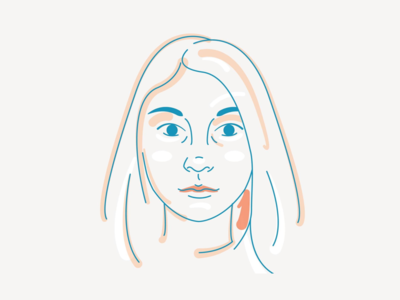 Self Portrait design character illustration self portrait