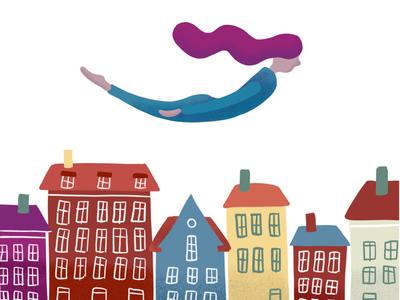 Copenhagen sketch copenhagen illustration
