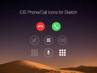 Free iOS Phone/Call Icons for Sketch