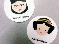 Women in Computer Science Stickers — Grace Hopper & Ada Lovelace