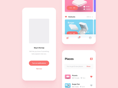 Nesnězeno - Motion design animation motion design motion ui clean ux design app ios food food illustration food app minimal illustraion eat