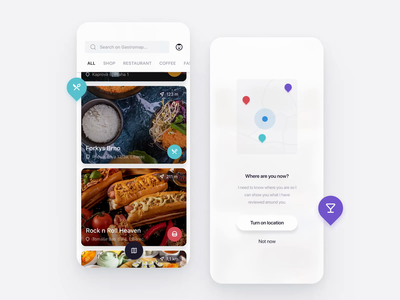 Gastromapa map foodies food app design gastronomy app gastro gastronomy foodie food map food app food minimal animation ios app design ux clean ui