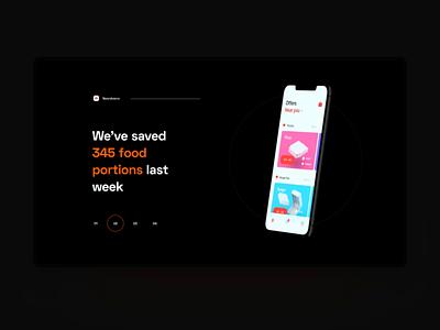 Futured TV showcase app dark minimal animation app design clean ui iphone x mockup iphone x motion design motion tv app tv