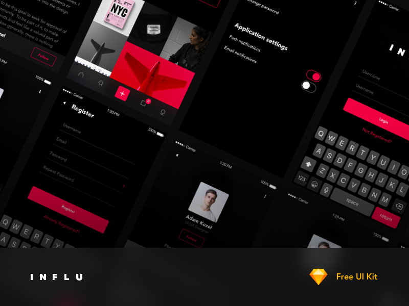 INFLU - Free UI Kit