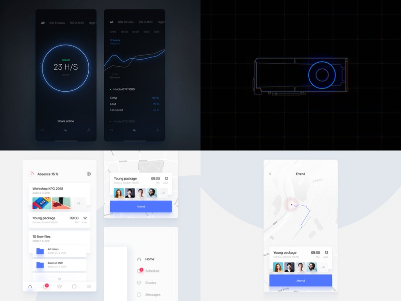 2018 education iphone x illustration minimal dark cryptocurrency bitcoin animation ios app design ux clean ui