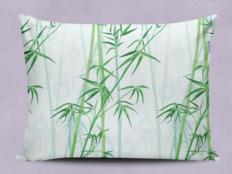 Bamboo pattern fabric seamless pillowcase pillow design surface fabric pattern bamboo