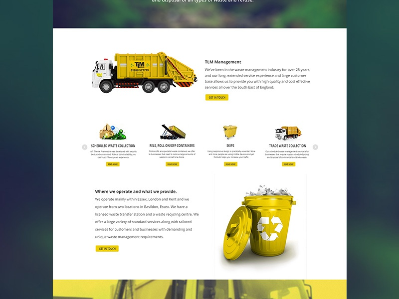 TLM waste management website  by Anastasia Nicholls on Dribbble