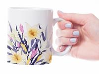 Mug with lily flowers