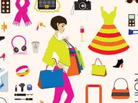 Fashion vector illustrations set