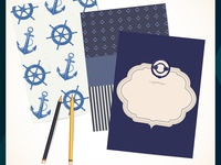 Nautical pattern and frames