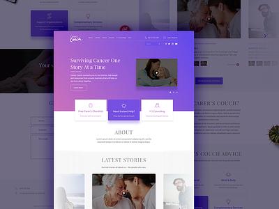 Website Redesign Concept freelance ui ux user experience website caregiver healthcare