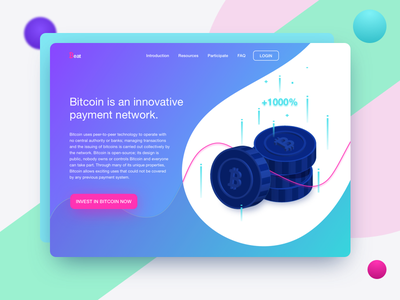 Beatcoin illustration homepage ux design daily design ui design cryptocurrency blockchain bitcoin