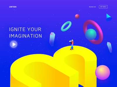 New Year's Resolution illustration daily ux ui design website gradient daily ui landing page ui