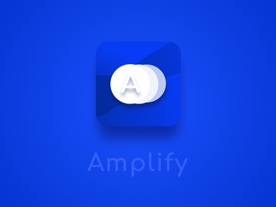 Amplify | iOS App Icon logo daily design daily ui app icon app ios
