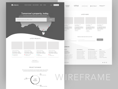 Urban - Wireframe minimal map logo news projects search website data design sketch ui design daily ui ux real estate property wireframe