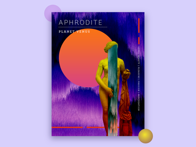 Aphrodite - Poster daily design book cover glitch goddess gradient gradience poster