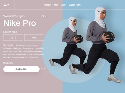 Nike Pro Hijab fashion cart ecommerce hijab daily design shots sports desktop design nike pro daily ui ui design nike
