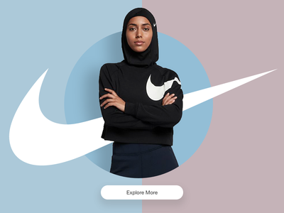Nike Pro Hijab startup ecommerce cart fashion nike splash screen shots hijab ui ux daily ui daily design