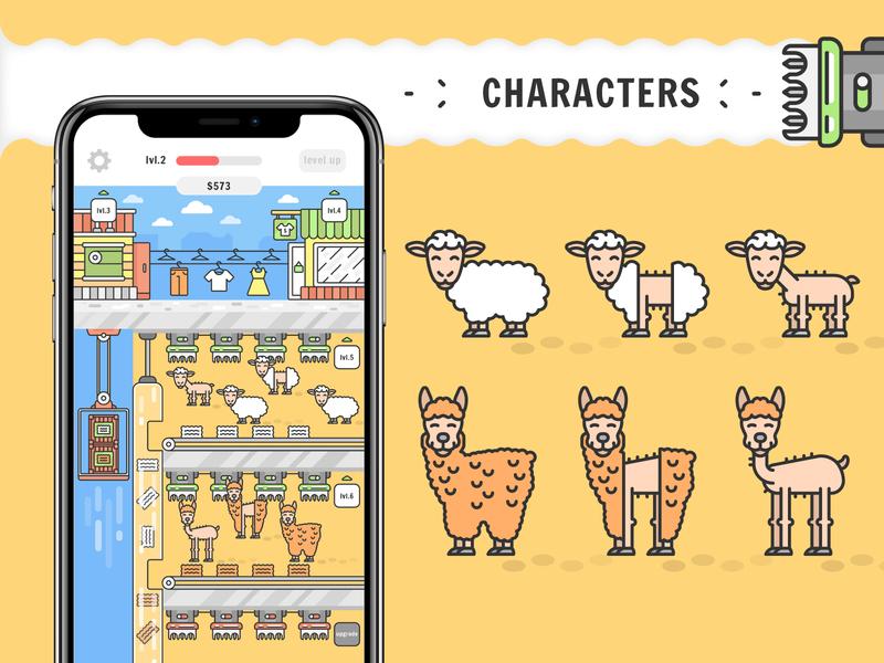 Mobile game design game dev mobile game game characters game design game art design illustration vector character design characters cartoon character art