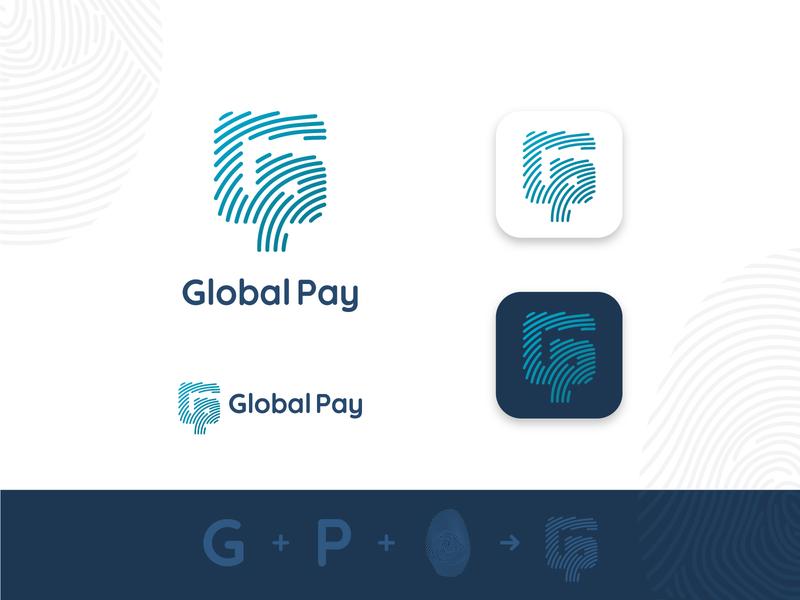 Global Pay minimalist logo simple logo logos graphic design graphicdesign logotype logo design logodesign branding design logo vector