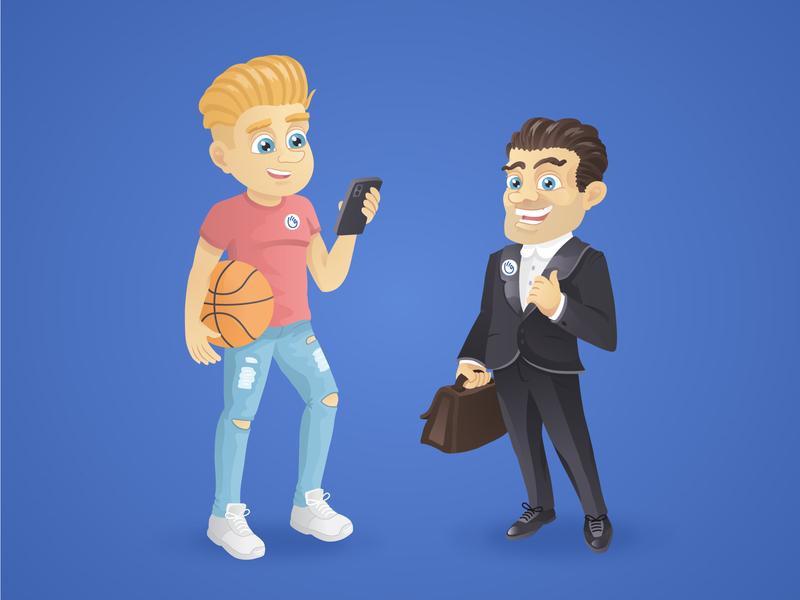 Company characters student teen businessman man cartoon characters cartoon character characters design character design illustration 2d vector art