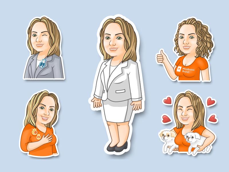 Stickers telegram artist cartoon illustration sticker design stickers sticker characters cartoon character illustration 2d vector art