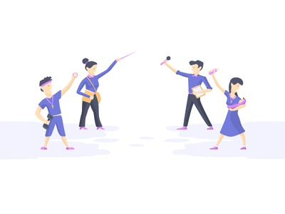 Characters design for site header