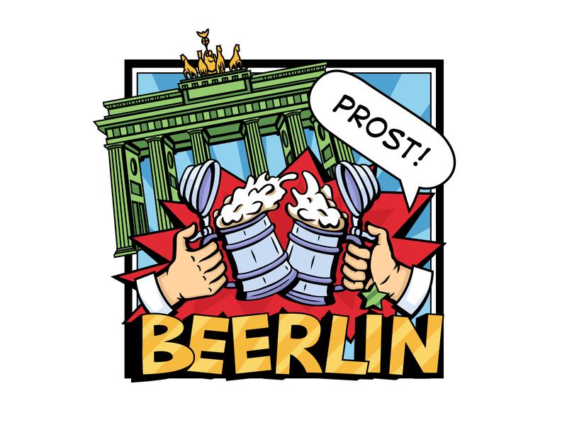 Glasses Beerlin comic vector illustration comic style comic art cartoon style cartoon art illustration 2d vector art