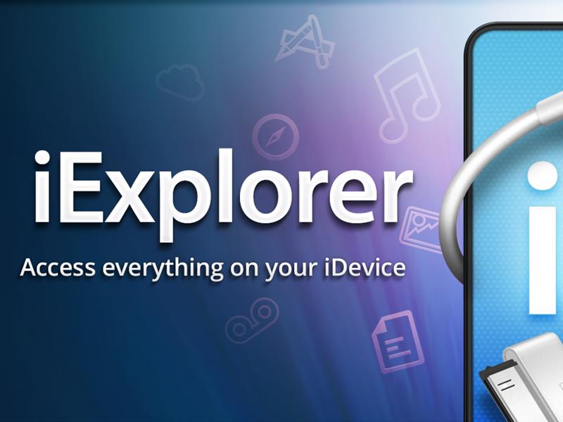 iExplorer Site Header... with Purple! iexplorer blue purple teal light glow icons iphone idevice header