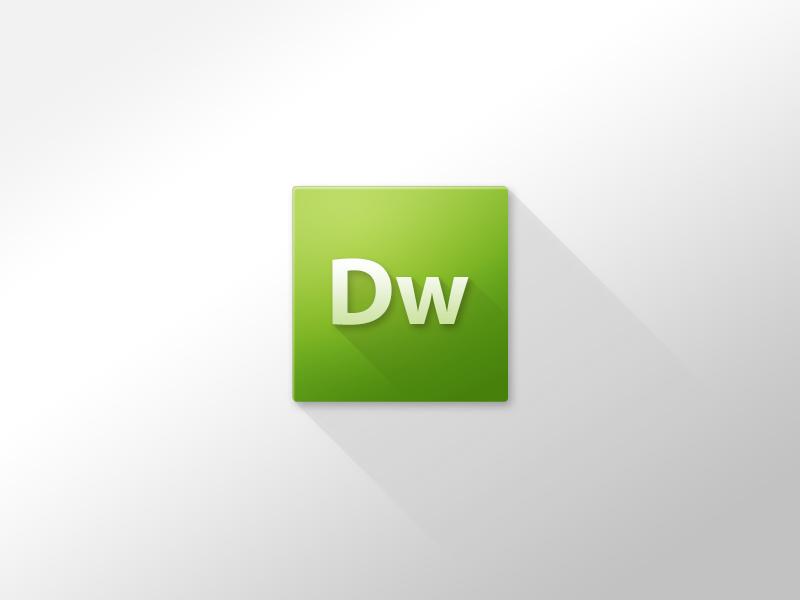 Dreamweaver Rebound dreamweaver icon adobe flat shadow projection green gradient