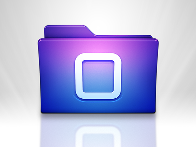iOS Browser Mac App Icon (Rev) blue icon glow ios purple light folder home shine browse