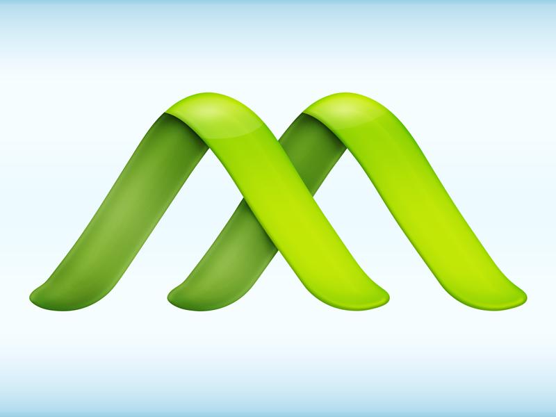 Macroplant Logo Help green logo icon brand identity leaf shading help m