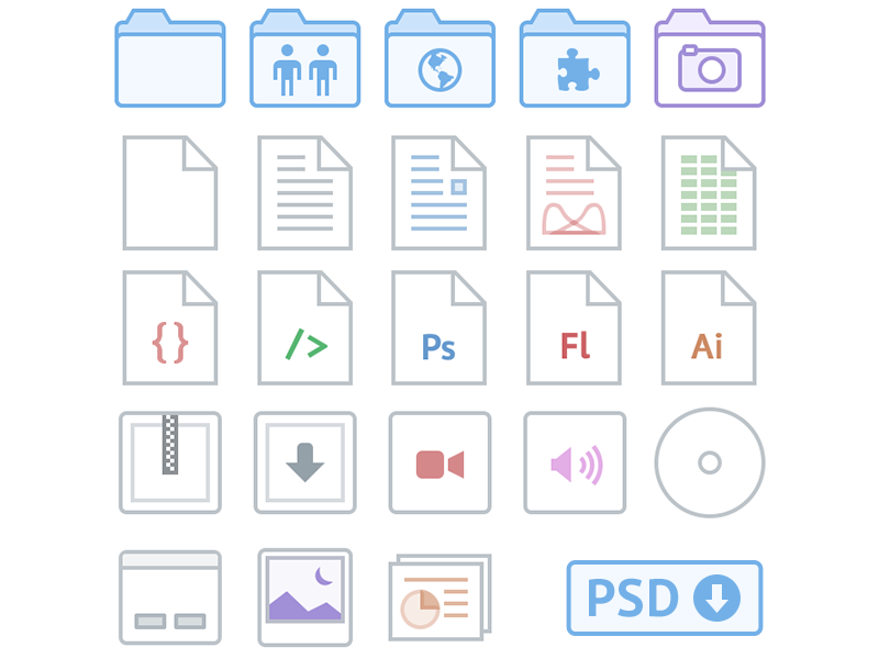 Dropbox iOS Icons by Chase Giunta on Dribbble