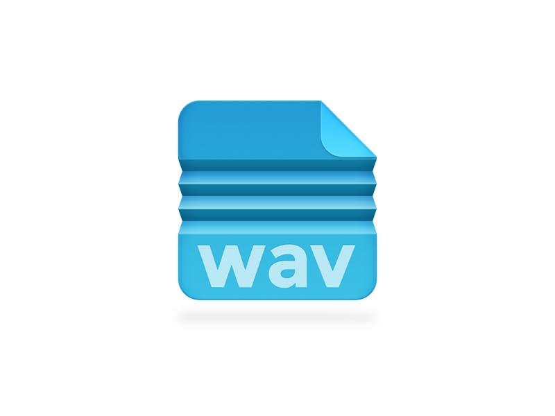 Compressed Wave filetype file wav fold folded blue fan