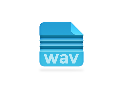 Compressed Wave filetype file wav fold folded blue fan