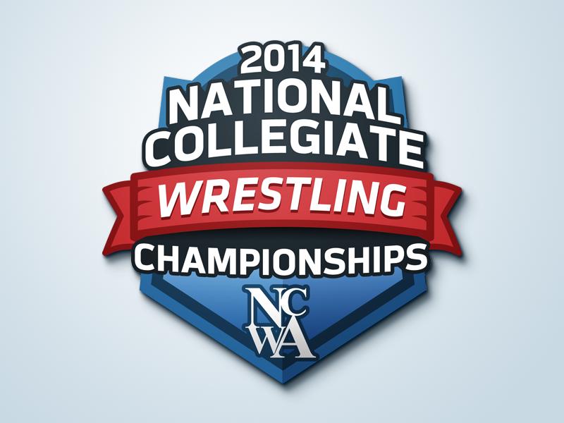 2014 NCWA National Championships Event Logo logo emblem sports wrestling event shield college