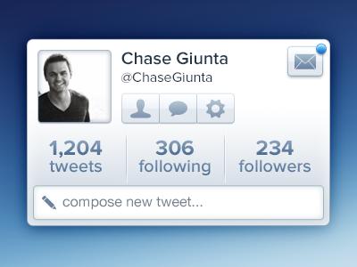 Twitter Widget Rebound