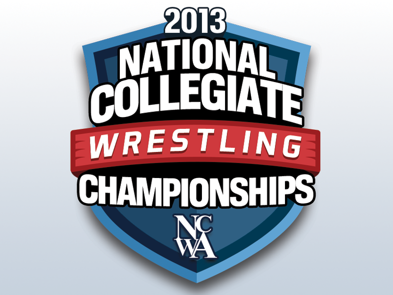 2013 NCWA National Championships Event Logo logo emblem ncwa event shield ribbon banner wrestling wrestle