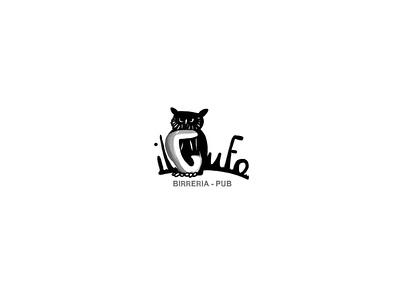 Il gufo illustration branding logo