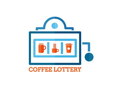 Coffee lottery logo lottery coffee logo