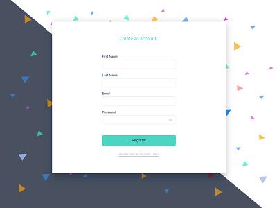 Sign Up interface sign up ui