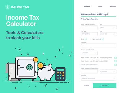 #dailyUI #004 Tax calculator