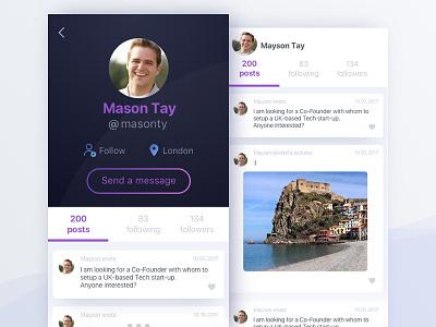 User Profile profile dailyui
