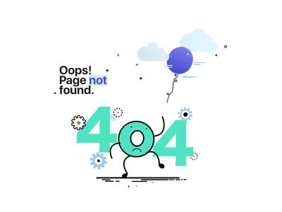 #DailyUI #008 404 page